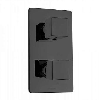 Bossini Cube Смеситель для душа, встраиваемый, с девиаторм 1/2/3/4/5, цвет: черный матовый