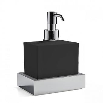 3SC SK 3.0 Дозатор подвесной, композит Solid Surface, цвет: чёрный/хром