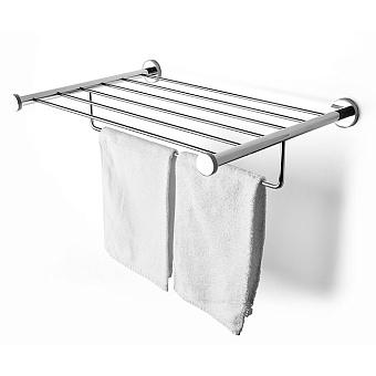 3SC Ribbon Полочка-решетка 50х35хh10см, с полотенцедержателем, цвет: хром