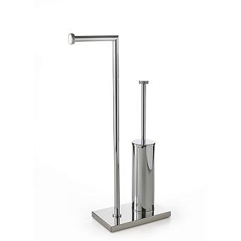 3SC Ribbon Напольная стойка 30х14хh63см, с полотенцедержателем и туалетным ёршиком, цвет: хром