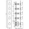 """Zucchetti On Встроенный 1/2"""" термостатический смеситель для душа, с 4 запорными клапанами, цвет: хром"""