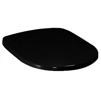 Artceram AZULEY сиденье для унитаза, цвет черный с шарнирами хром (микролифт)