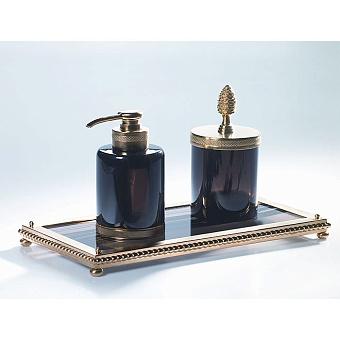 Cristal et Bronze Obsidian Подставка из обсидиана на ножках-шариках