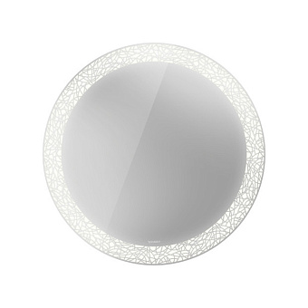 Duravit Happy D.2 Plus Зеркало с подсветкой organic, круглое 90x90x4.7см, сенсорное управление