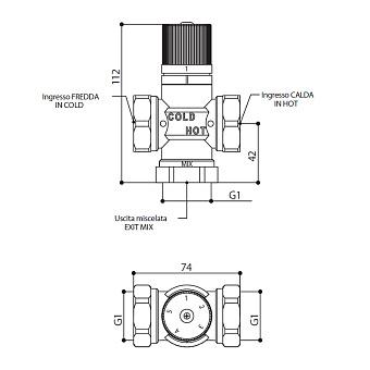 Bongio Elettronici, Термостатический клапан для смешивания воды