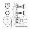 Zucchetti Savoir Встроенный термостатический смеситель с 2 запорными клапанами, цвет: хром