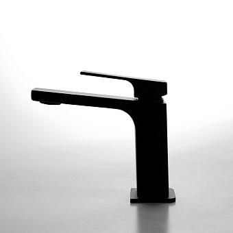 Carlo Frattini Fit Смеситель для раковины, на 1 отв, донный клапан, h167мм излив 160мм, цвет: черный матовый