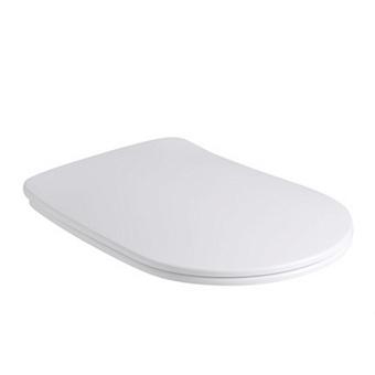 Kerasan Nolita Сиденье для унитаза SLIM быстросъемное, цвет Белый матовый, петли хром (микролифт)