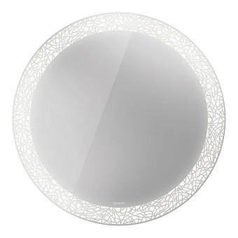 Duravit Happy D.2 Plus Зеркало с подсветкой organic, круглое 70x70x4.7см, сенсорное управление
