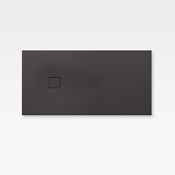 Armani Roca Baia Душевой поддон 160х80х3.1см с боковым сливом, с anti-slip, мат-л: Stonex, цвет: dark metallic