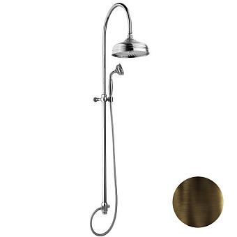 Nicolazzi Doccia Душевая стойка с верхним душем Ø 30см, с переключателем и ручным душем, цвет: тёмная бронза