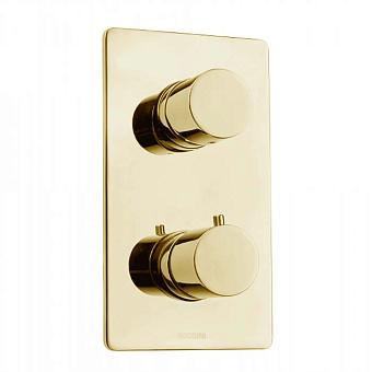 Bossini Oki Термостат для душа, встраиваемый, с девиаторм 1/2/3/4/5, цвет: золото