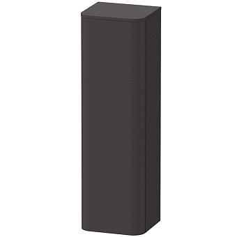 Duravit Happy D.2 Plus Пенал подвесной 1336x400x360мм, 1 дверь, 3 стекл. полки, DX, цвет: графит суперматовый