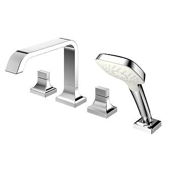 TOTO GC Смеситель для ванны на 4 отв. 480x262x226мм с ручным душем, цвет хром