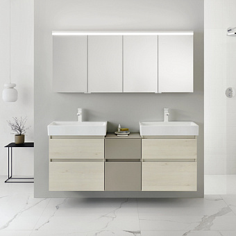 Burgbad Lin20 Комплект мебели 166х37х71см, подвесной, с раковиной, с 2 ящиками, цвет: Merino oak decor