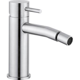 CISAL Xion Смеситель однорычажный для биде на 1 отверстие без донного клапана, цвет нержавеющая сталь