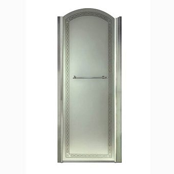 Душевая дверь Gentry Home Arcadia 80х100 см, открытие слева/справа, ручка и профиль (хром)