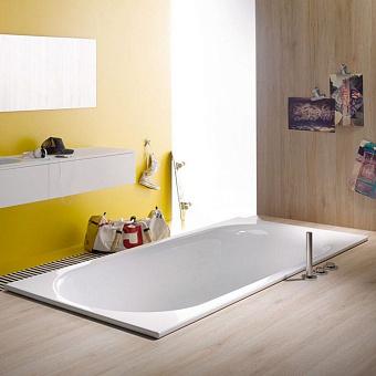 Bette Comodo Ванна встраиваемая 170х75х45 см, с шумоизоляцией, BetteGlasur® Plus, перелив сзади, цвет: белый