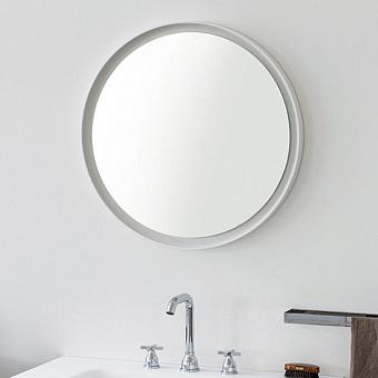 Agape Memory Круглое зеркало 70см, цвет: белый