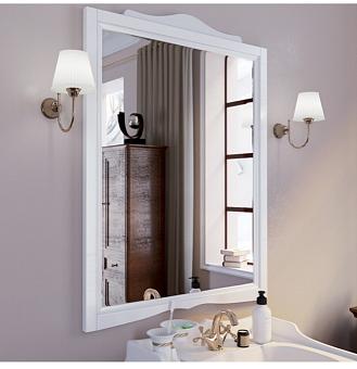 TW Veronica Nuovo Зеркало подвесное, в деревянной раме 83х110см, цвет bianco
