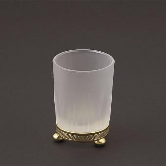Cristal et Bronze Prestige Стакан из матового стекла настольный, цвет: золото