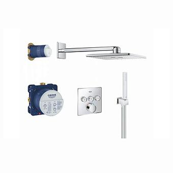 Grohe SmartControl Душевая систем ас душевым гарнитуром и верхним душем, цвет: хром