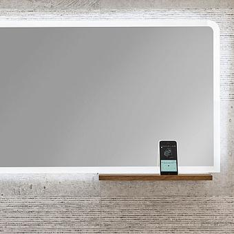 Noken Pure line wood Горизонтальное зеркало 140х50 cm со светодиодной подсветкой по периметру и динамиками для воспроизведения музыки с устройств с поддержкой Bluetooth