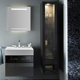 Burgbad Yumo Шкаф подвесной 35x32x176 см, с подсветкой, цвет серый