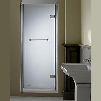 Devon&Devon Savoy Душевое ограждение V70 68-72 см с декоративными элементами, стекло с декором 2T, цвет:  хром
