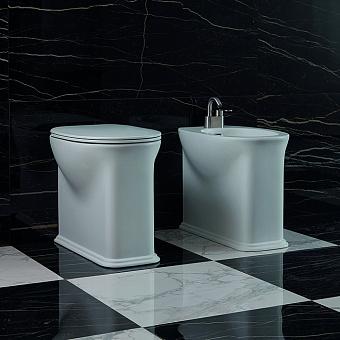 Flaminia Madre Унитаз пристенный 55x37xh45см, унивирсальный выпуск, с системой goclean®, цвет: белый глянцевый