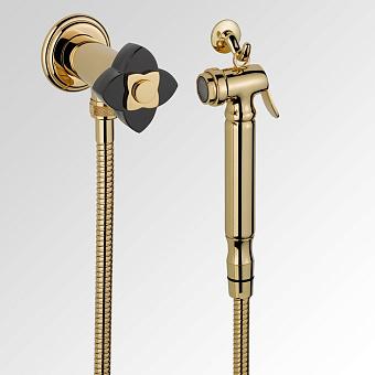 THG Petale de Cristal noir Гигиенический душ, цвет: золото/черный хрусталь