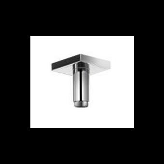 KEUCO Edition 11, Душевой кронштейн потолочный с квадратным отражателем, вылет 100 мм, цвет: Хром