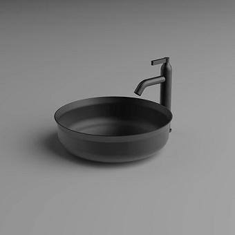 Agape Undici Раковина накладная Ø38см., без отв., без перелива, с донн клапаном, из нержавеющий стали, отделка: Inox brushed