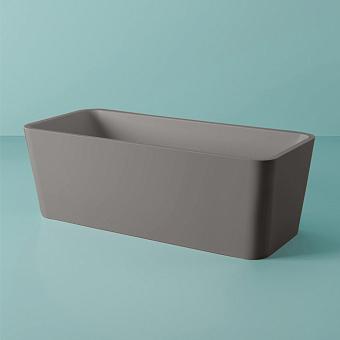 Artceram Square Ванна отдельностоящая, 180х80хh60см, с переливом и слив.крышкой, Livingtec, цвет: grigio oliva