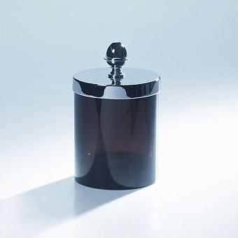 Cristal et Bronze Obsidian Баночка с крышкой, из обсидиана