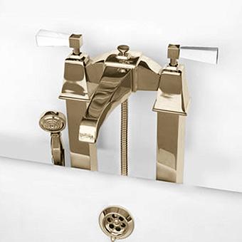 Devon&Devon Vip Time Смеситель для ванны, цвет: золото/белый хрусталь