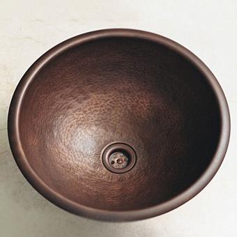 Herbeau Rhone Раковина 46.5 см, без отв., цвет: состаренная отчеканенная медь