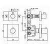 Zucchetti Pan Встроенный термостатический смеситель для душа, двух канальный, цвет: хром
