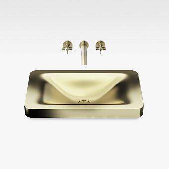 Armani Roca Baia Раковина 66x42 см, без отв., встраиваемая сверху, со скр. переливом, цвет: matt gold