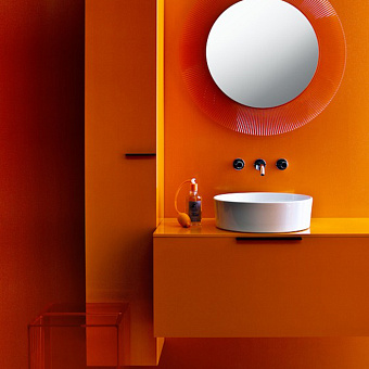 Laufen Kartell Раковина-чаша 42х42х12 см, без отв., без перелива, с покр. LLC, цвет: белый