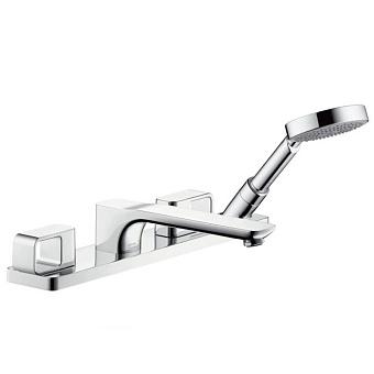 AXOR Urquiola, Смеситель для ванны, на 4 отверстия, монтаж на плитку, цвет: хром