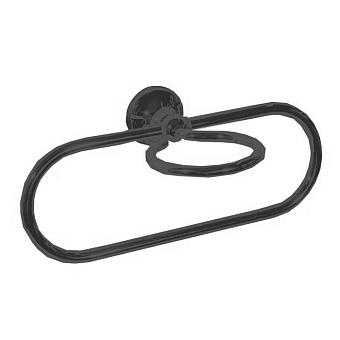 Bertocci Scacco Полотенцедержатель кольцо с держателем мыльницы, подвесной, цвет: черный матовый