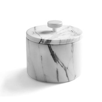 3SC Apuana 2.0 Баночка универсальная, D=8,5/h12 см, с крышкой, настольная, цвет: белый матовый