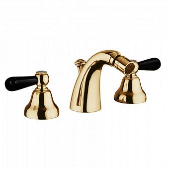 Bongio Mille Nuits Смеситель для биде, цвет: золото/черный фарфор