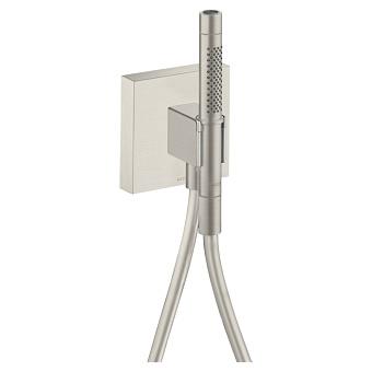 Axor Shower Porter Душевой гаринитур, c ручным душем с 2 режимами, шланг 125см, настенный, цвет: сталь