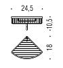 Colombo Angolari B9617.000 Двойная угловая полочка подвесная