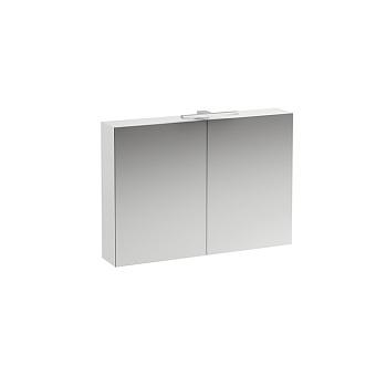 Laufen Base Шкафчик зеркальный 100х18.5х70см, подвесной, с подсветкой, 2 дверцы, цвет: белый глянцевый
