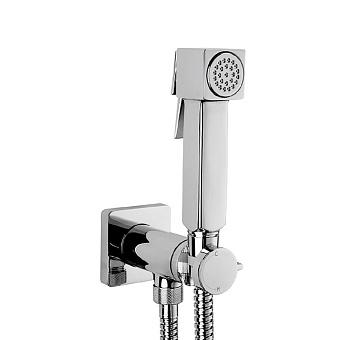 Bossini Cube Brass Гигиенический душ с прогрессивным смесителем, лейка металлическая, шланг металлический, цвет: хром