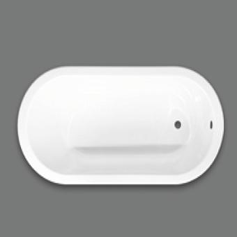 Devon&Devon Bayswater Ванна встроенная чугунная овальная  165x75xh46 cм, цвет: белый