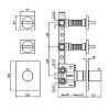 "Zucchetti Aguablu Термостатический смеситель, скрытого монтажа 1/2"", цвет: хром"